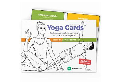 buy workoutlabs yoga cards beginner and intermediate set